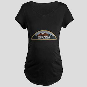 Vintage Twin Peaks Sheriff Depar Maternity T-Shirt