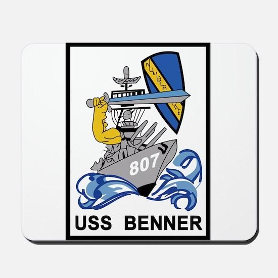 DD-807 USS BENNER Destroyer Ship Militar Mousepad