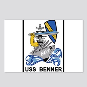 DD-807 USS BENNER Destroy Postcards (Package of 8)