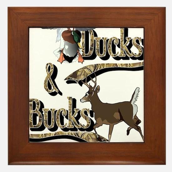 Ducks & Bucks Framed Tile