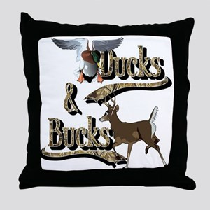 Ducks & Bucks Throw Pillow