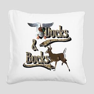 Ducks & Bucks Square Canvas Pillow