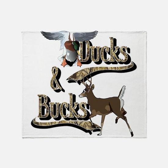 Ducks & Bucks Throw Blanket