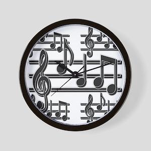 Musical Note Design Wall Clock