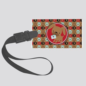 Pawprint Puppy Pattern Large Luggage Tag