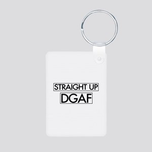 Straight Up DGAF Aluminum Photo Keychain