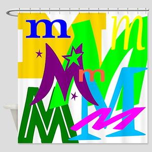 Initial Design (M) Shower Curtain