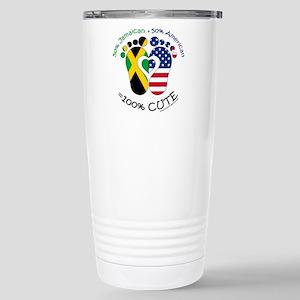 Jamaican American Baby Travel Mug