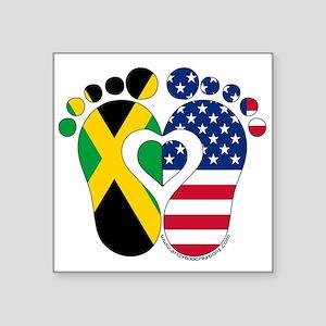 Jamaican American Baby Sticker