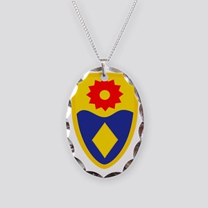 49th MP Brigade Necklace Oval Charm