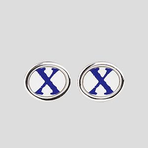 X Oval Cufflinks
