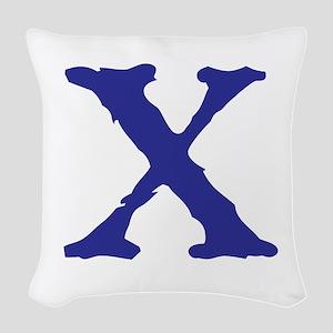 X Woven Throw Pillow