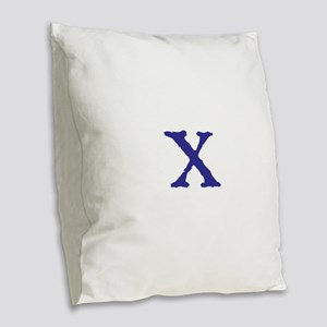 X Burlap Throw Pillow