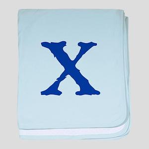 X baby blanket