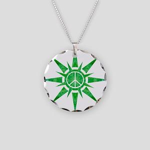 Solar Peace - Snowflake Necklace Circle Charm