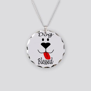 Dog Blessed Necklace Circle Charm