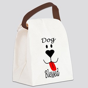 Dog Blessed Canvas Lunch Bag