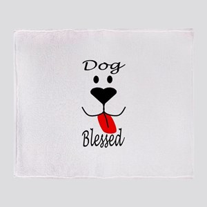 Dog Blessed Throw Blanket