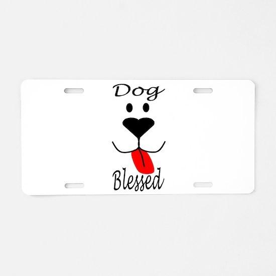 Dog Blessed Aluminum License Plate