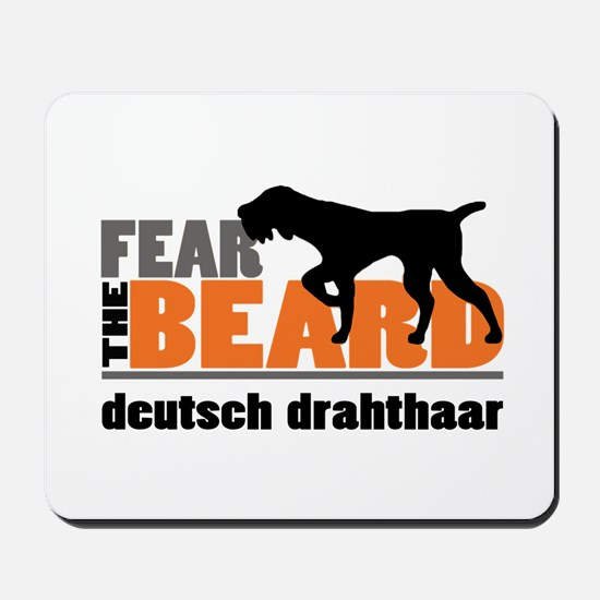Fear the Beard - Deutsch Drahthaar Mousepad