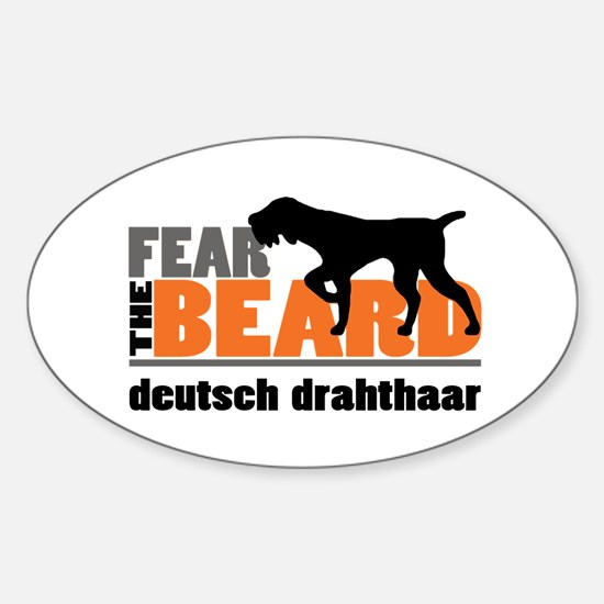 Fear the Beard - Deutsch Drahthaar Sticker (Oval)
