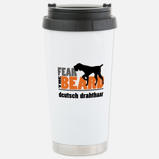 Fear the Beard - Deutsc Stainless Steel Travel Mug