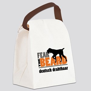 Fear the Beard - Deutsch Drahthaa Canvas Lunch Bag