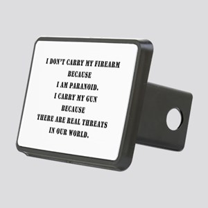 therearerealthreats Rectangular Hitch Cover