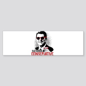 Reagan: Old School Conservative Sticker (Bumper)