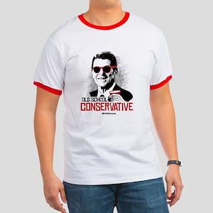 Reagan: Old School Conservative Ringer T