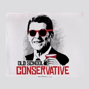 Reagan: Old School Conservative Throw Blanket