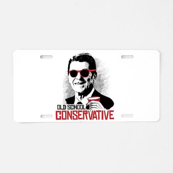 Reagan: Old School Conserva Aluminum License Plate