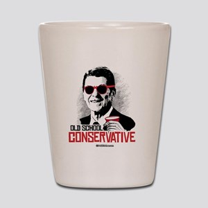 Reagan: Old School Conservative Shot Glass