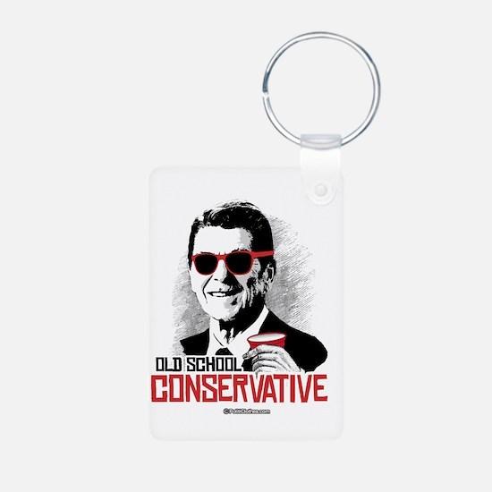 Reagan: Old School Conserv Aluminum Photo Keychain