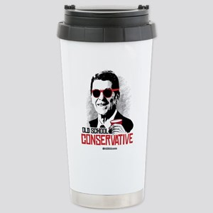Reagan: Old School Cons Stainless Steel Travel Mug
