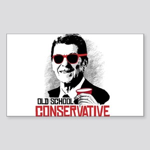 Reagan: Old School Conservativ Sticker (Rectangle)
