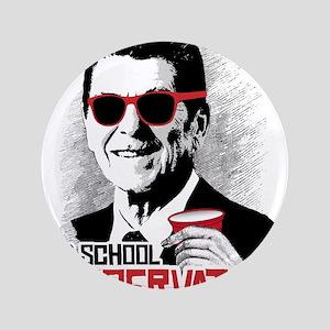 Reagan: Old School Conservative Button
