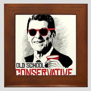 Reagan: Old School Conservative Framed Tile