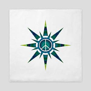 Solar Peace - Meditation Queen Duvet