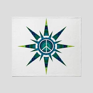 Solar Peace - Meditation Throw Blanket