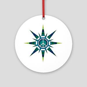 Solar Peace - Meditation Ornament (Round)