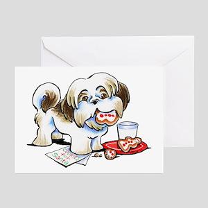 Shih Tzu Cookies Greeting Cards