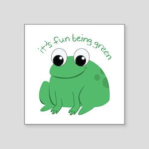 Its Fun Being Green Sticker