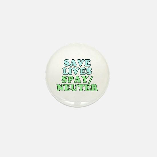 Save lives. Spay/neuter - Mini Button