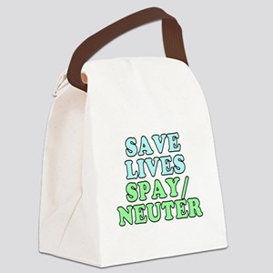 Save lives. Spay/neuter - Canvas Lunch Bag