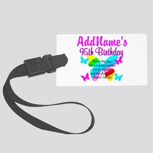 BLESSED 95TH Large Luggage Tag