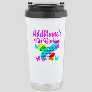 BLESSED 95TH Stainless Steel Travel Mug