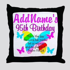 BLESSED 95TH Throw Pillow
