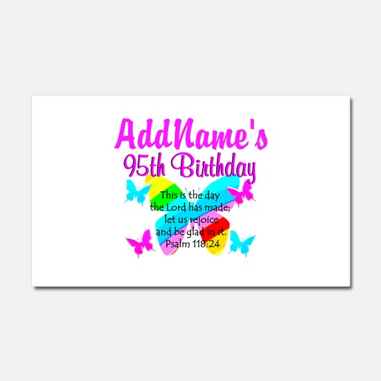BLESSED 95TH Car Magnet 20 x 12