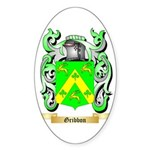 Gribbon Sticker (Oval 50 pk)